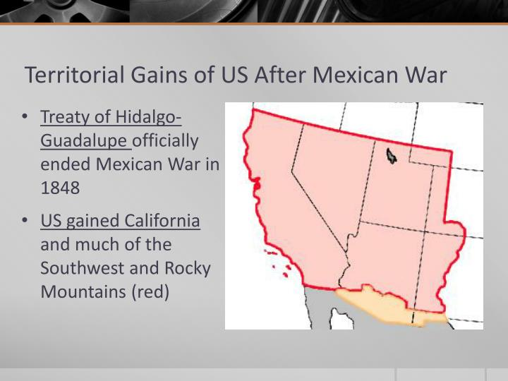 Territorial Gains of US After Mexican War