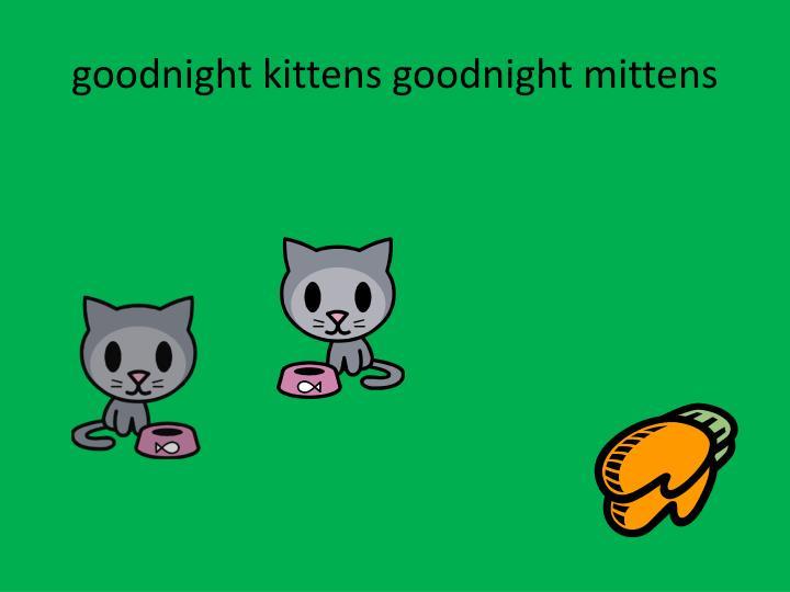 goodnight kittens goodnight mittens