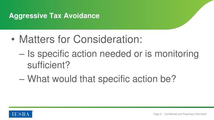 Aggressive Tax Avoidance