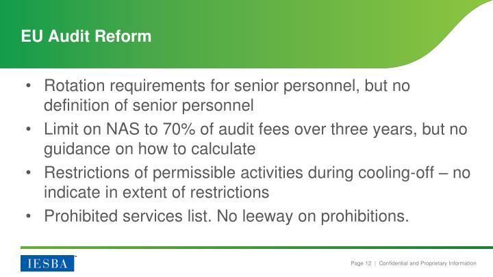 EU Audit Reform