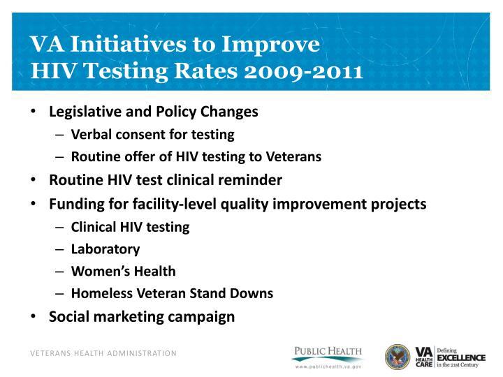 VA Initiatives to Improve