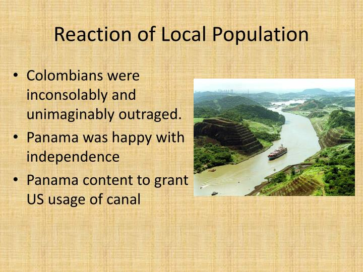 Reaction of Local Population