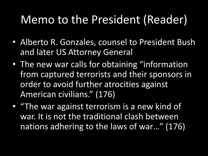 Memo to the President (Reader)