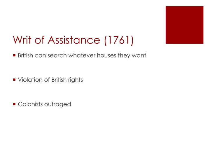 Writ of Assistance (1761)