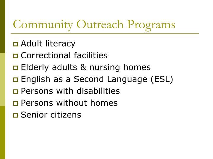 Community Outreach Programs