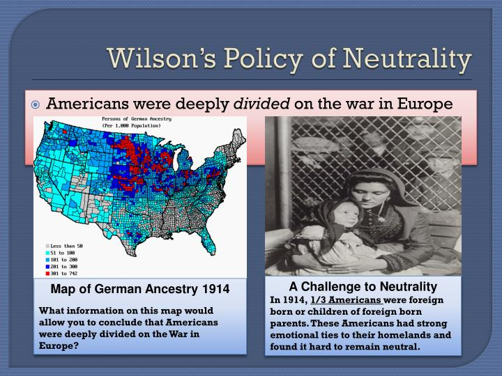 Wilson's Policy of Neutrality