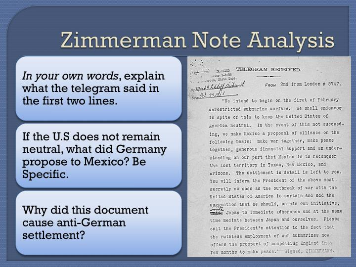 Zimmerman Note Analysis
