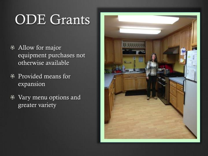 ODE Grants