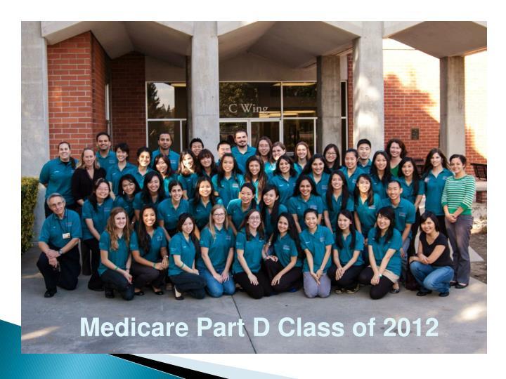 Medicare Part D Class of 2012