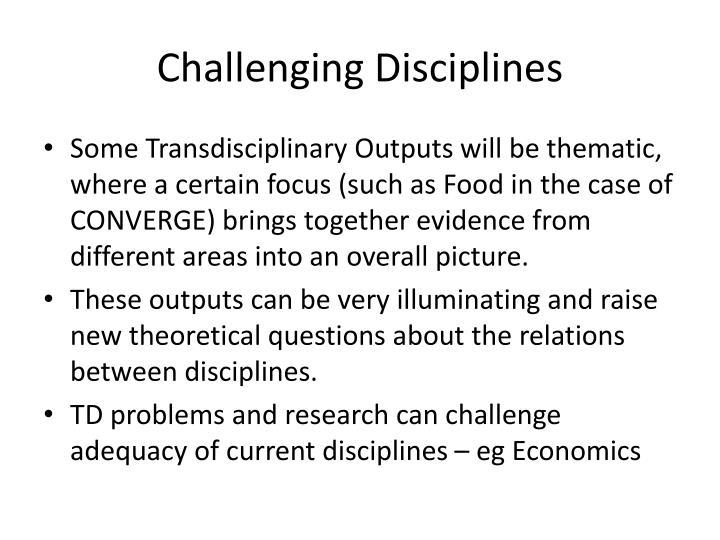 Challenging Disciplines