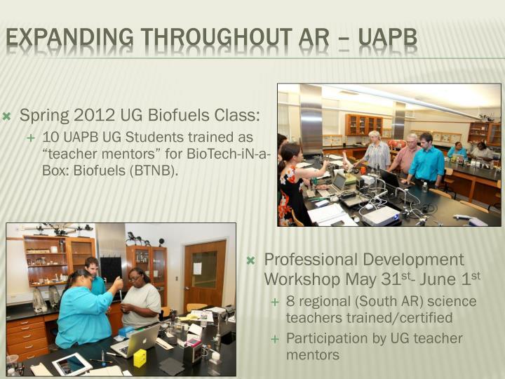 Expanding Throughout AR – UAPB