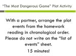 the most dangerous game plot activity