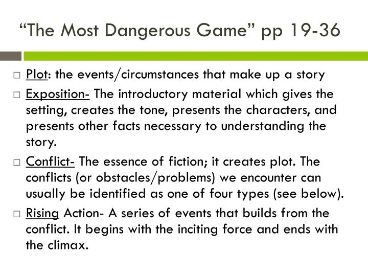 The most dangerous game pp 19 36