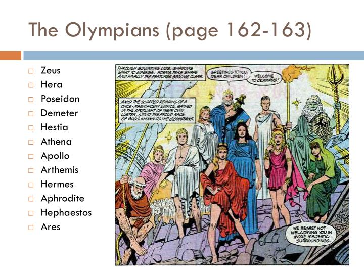 The Olympians (page 162-163)