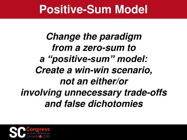 Positive-Sum Model