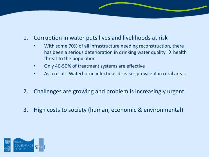 Corruption in water puts lives and livelihoods at risk