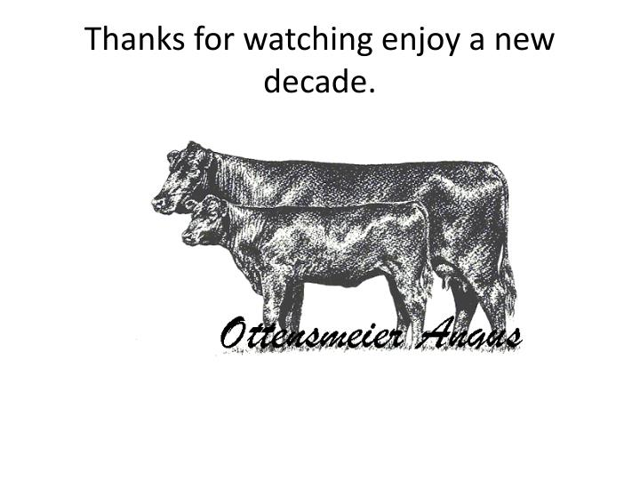 Thanks for watching enjoy a new decade.