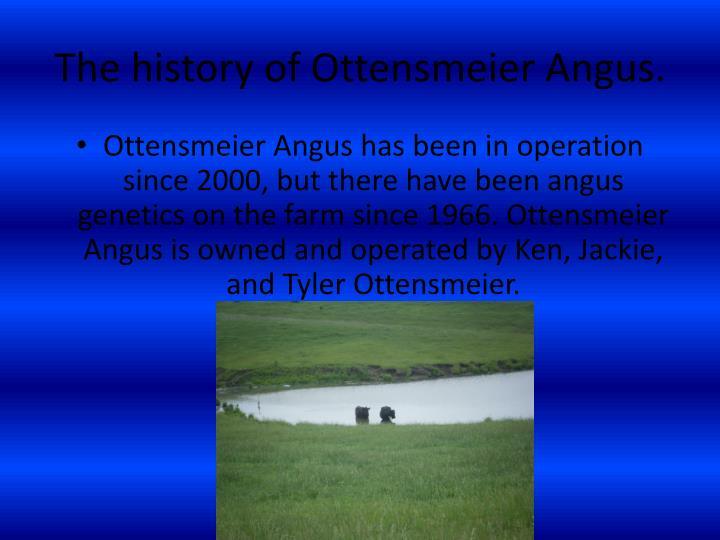 The history of Ottensmeier Angus.
