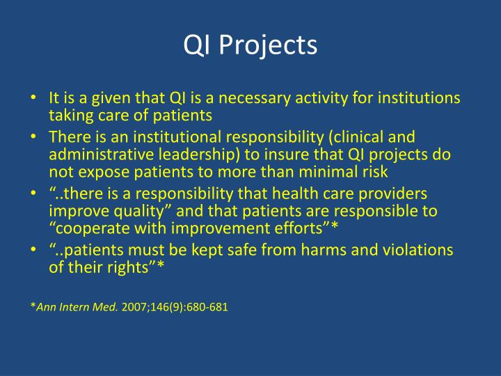QI Projects
