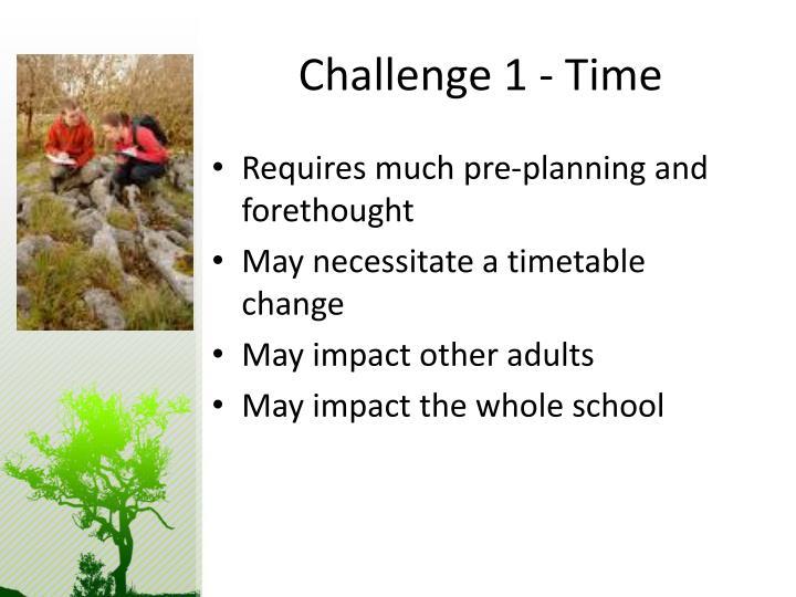 Challenge 1 - Time