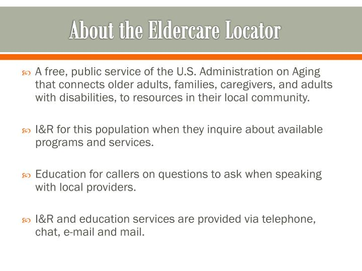 About the eldercare locator