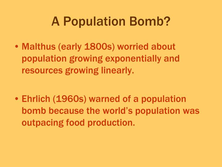 A Population Bomb?