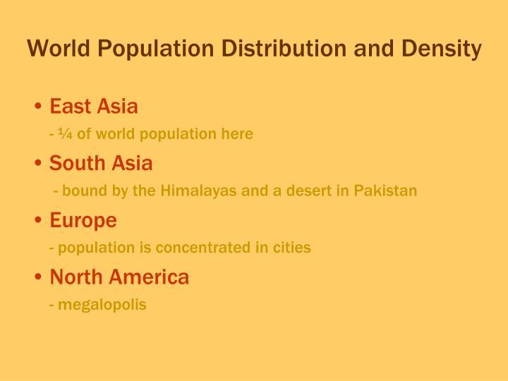 World Population Distribution and Density