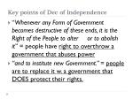 key points of dec of independence1