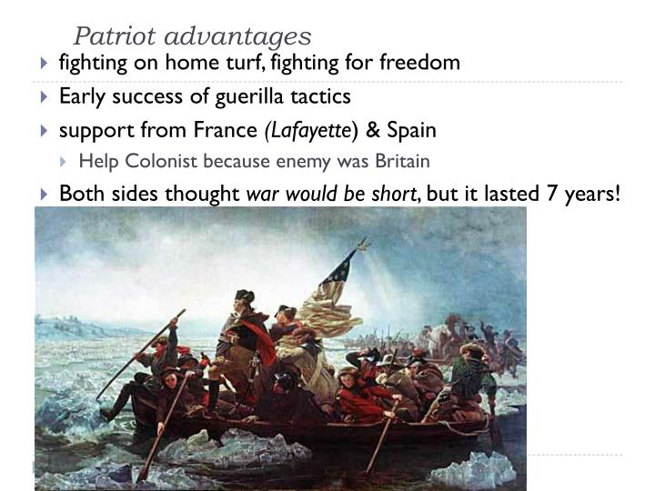 Patriot advantages