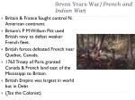 seven years war french and indian war
