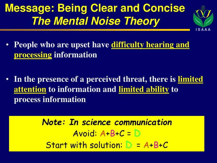 Message: Being Clear and Concise