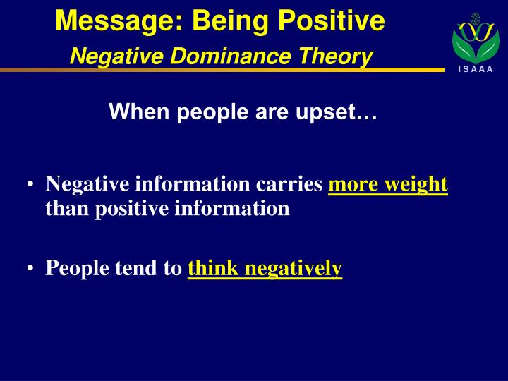 Message: Being Positive