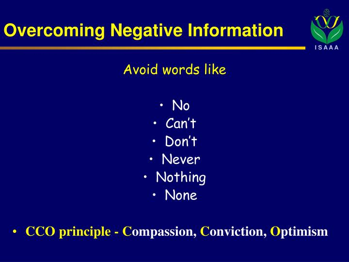 Overcoming Negative Information