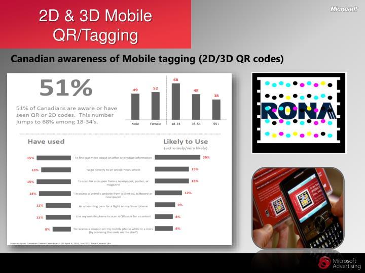 2D & 3D Mobile QR/Tagging