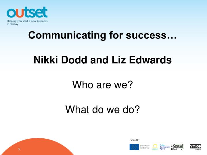 Communicating for success…