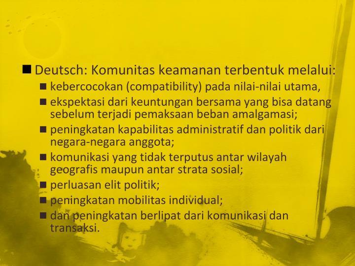 Deutsch: Komunitas