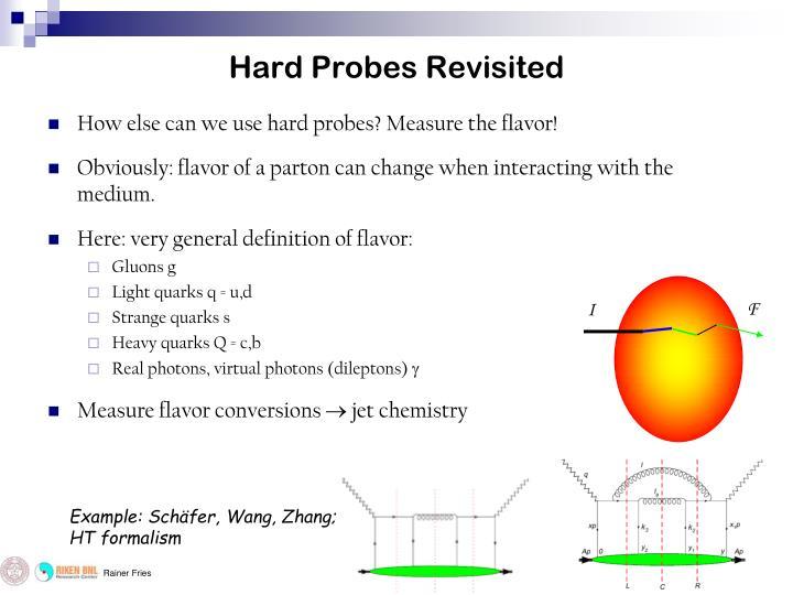 Hard Probes Revisited