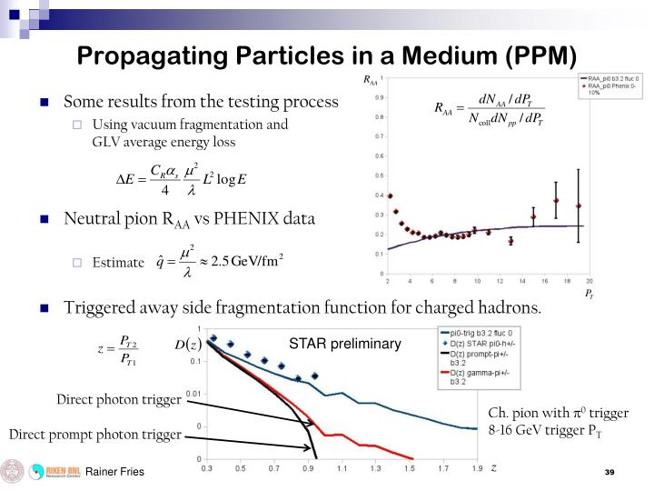 Propagating Particles in a Medium (PPM)