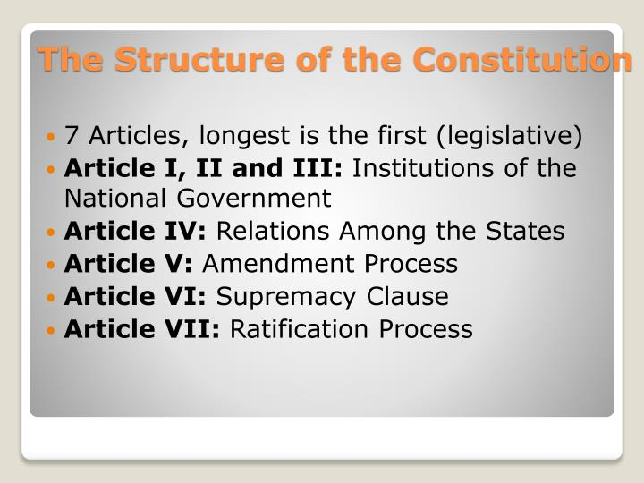 7 Articles, longest is the first (legislative)