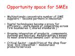 opportunity space for smes