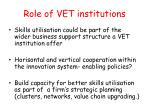 role of vet institutions