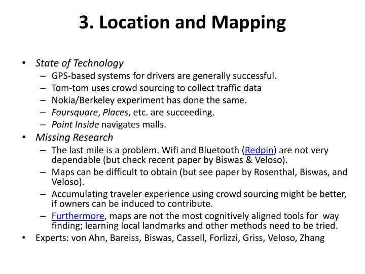 3. Location and Mapping