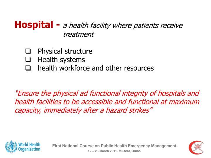 Hospital -