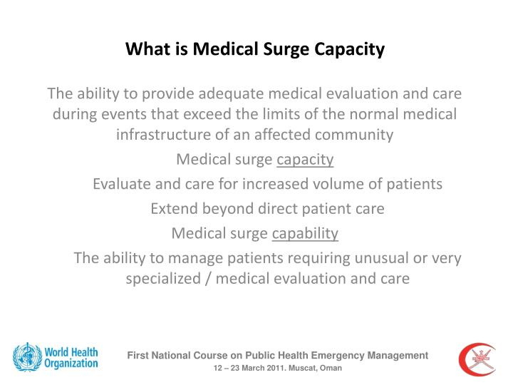 What is Medical Surge Capacity