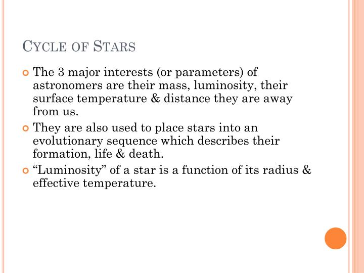 Cycle of stars