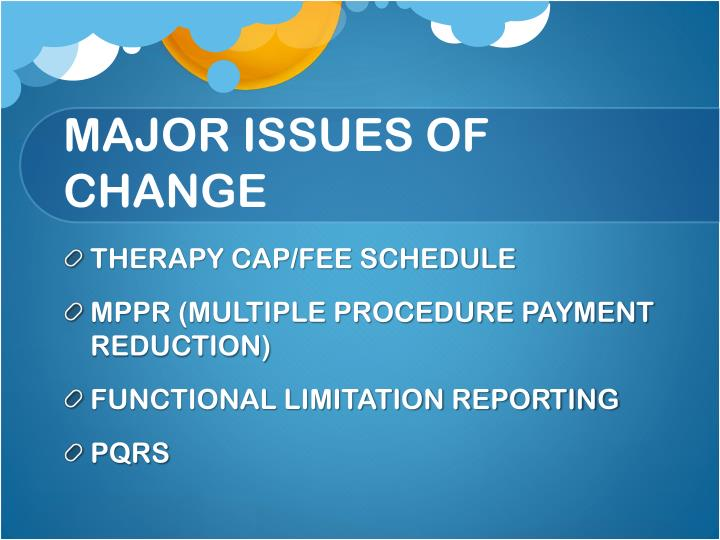 Major issues of change