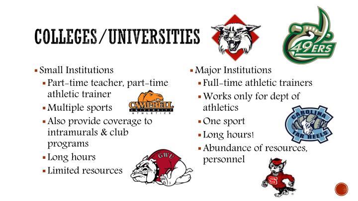 Colleges/universities
