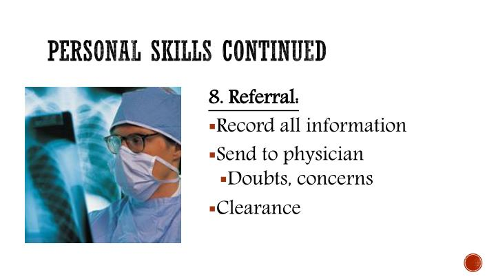 Personal skills continued