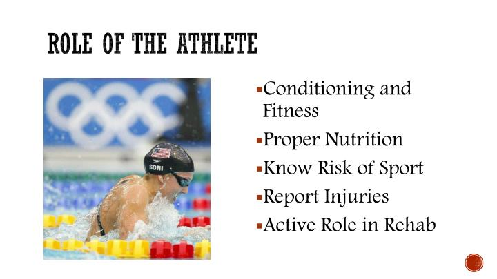 Role of the athlete