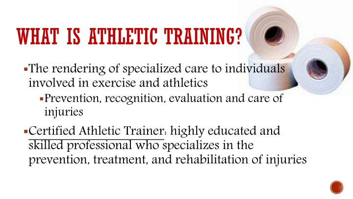 What is athletic training?